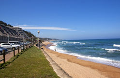 Above View of Umdloti Beach Near Durban stock image
