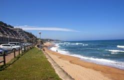 Above View of Umdloti Beach Near Durban Stock Image
