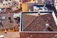 Above view of urban houses in Verona city Royalty Free Stock Photography