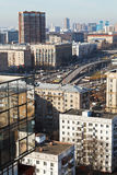 Above view of urban overpass in Moscow Stock Photos
