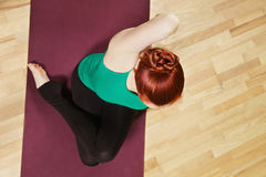 Above view yoga Royalty Free Stock Photos