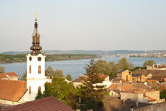 Above view of the Zemun quarter Royalty Free Stock Photo