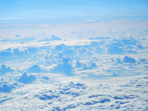 Above the white clouds Stock Photography