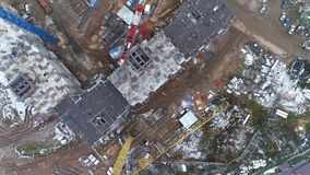 Above widok na budowie dla mieszkaniowych mieszkań zbiory wideo