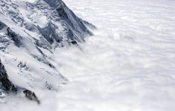 Abover del Monte Bianco le nuvole Fotografia Stock