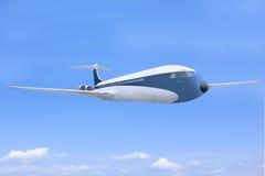 abpveflygbussflygplan clouds flyg high Fotografering för Bildbyråer