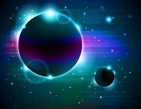 Abrégé sur éclipse de planète Photos stock