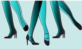 Abrégé sur animé jambes de danse illustration libre de droits