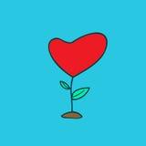 Abrégé sur arbre de coeur illustration stock