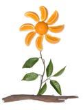 Abrégé sur arbre orange Photos libres de droits