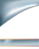 Abrégé sur argenté courbe de verticale Photo stock