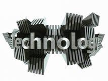 Abrégé sur argenté signe de technologie en métal Photographie stock