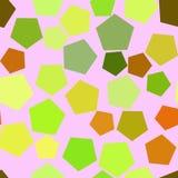 Abrégé sur artistique sans couture modèle de fond de pentagone Style, couleur, contexte et vecteur illustration libre de droits