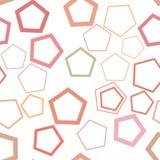 Abrégé sur artistique sans couture modèle de fond de pentagone Surface, illustration, Web et vecteur illustration de vecteur