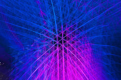 Abrégé sur bleu et rose strie claire Images libres de droits