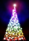 Abrégé sur Bokeh d'arbre de Noël images stock