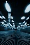 Abrégé sur brouillé par passage aéroport Image stock