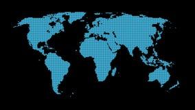 Abrégé sur carte du monde Photos libres de droits