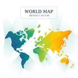 Abrégé sur carte du monde polychrome Images libres de droits