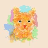 Abrégé sur chat Image libre de droits