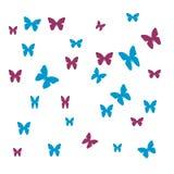Abrégé sur chemise de papillon Image stock