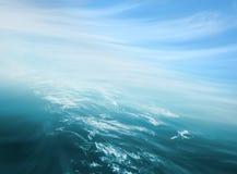 Abrégé sur ciel de mer Photographie stock libre de droits