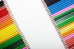 Abrégé sur coloré crayons ! Image libre de droits