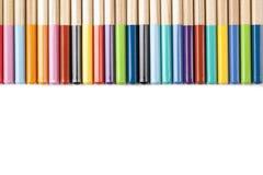 Abrégé sur coloré crayons ! Images libres de droits