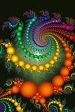 Abrégé sur coloré lumineux programmes Photo stock