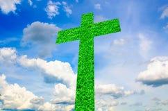 Abrégé sur croix sur le ciel Images libres de droits