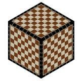 Abrégé sur cube en échecs Photo stock