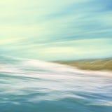 Abrégé sur débordant mer Photographie stock libre de droits