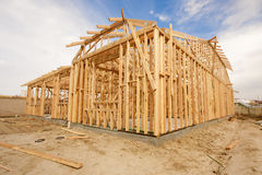 Abrégé sur de encadrement à la maison nouvelle construction Image stock