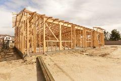 Abrégé sur de encadrement à la maison nouvelle construction Photo libre de droits