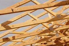 Abrégé sur de encadrement à la maison nouvelle construction Photos libres de droits