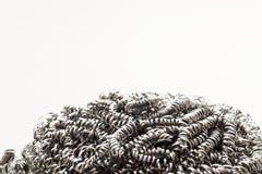 Abrégé sur de frottement brosse de nettoyage en métal Images libres de droits
