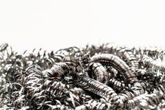 Abrégé sur de frottement brosse de nettoyage en métal Photographie stock