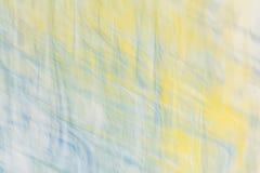 Abrégé sur defocused bleu jaune art Photos stock