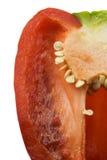 Abrégé sur doux poivron rouge Photographie stock
