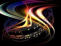 Abrégé sur dynamique musique Image stock