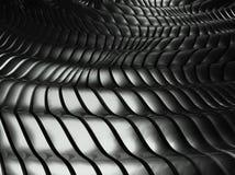 abrégé sur en aluminium ondulé le fond 3d illustration stock