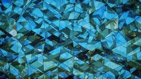 Abrégé sur en verre bleu multicouche triangulé 3D construction au sujet de Illustration Stock