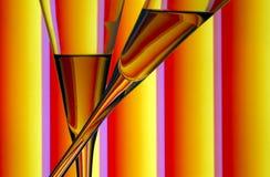Abrégé sur en verre de Champagne photographie stock libre de droits