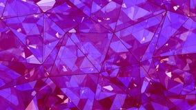 Abrégé sur en verre pourpre multicouche triangulé 3D construction illustration de vecteur