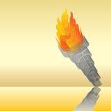 Abrégé sur flamboyant torche Photo stock