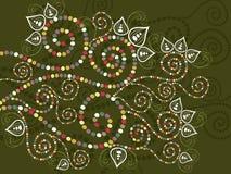 Abrégé sur floral ethnique de Bohème courbes illustration stock