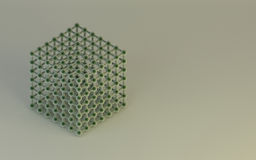 Abrégé sur fond de Structure de modèle de molécule de la Science Photo stock