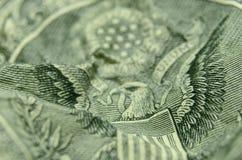 Abrégé sur foyer sélectif des rayures du manteau des USA des bras images libres de droits