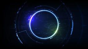 Abrégé sur géométrique cellules de future de cyber interface technologique de hud illustration stock