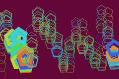 Abrégé sur géométrique moderne modèle de fond de pentagone Décoration, graphique, concept et papier peint Photographie stock libre de droits